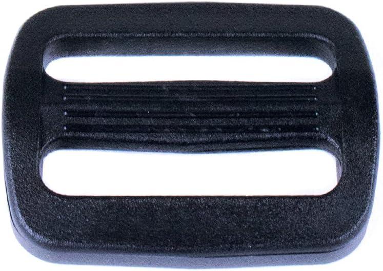 20 Pack 20 Pack Paracord Planet 1 Inch Plastic Tri-Glide Slides 10 Pack Backpack Webbing Sling Slider 50 Pack Black Collar