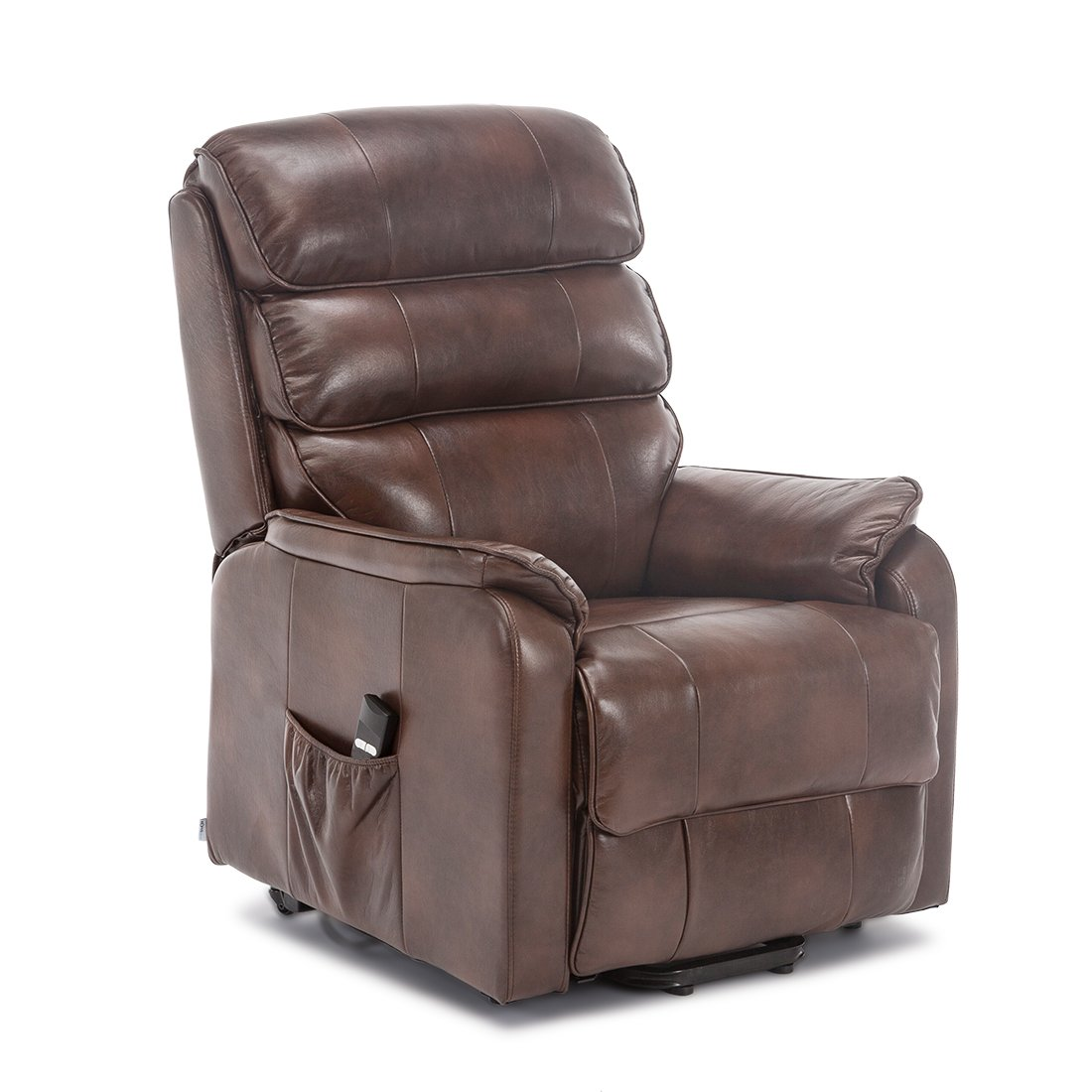 Pleasing More4Homes Buckingham Elecrtic Rise Recliner Leather Air Riser Sofa Armchair Lounge Chair Brown Creativecarmelina Interior Chair Design Creativecarmelinacom