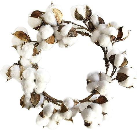 Kinnart Guirnalda de Navidad, decoración de Navidad, corona de flores de algodón artificial para bodas, fiestas, Halloween, día de Acción de Gracias, Navidad, Año Nuevo multicolor: Amazon.es: Hogar