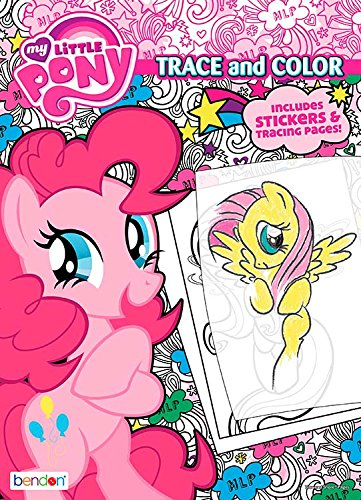 Bendon 47785 My Little Pony 48-Page Color and Trace Book Eight Little Ponies