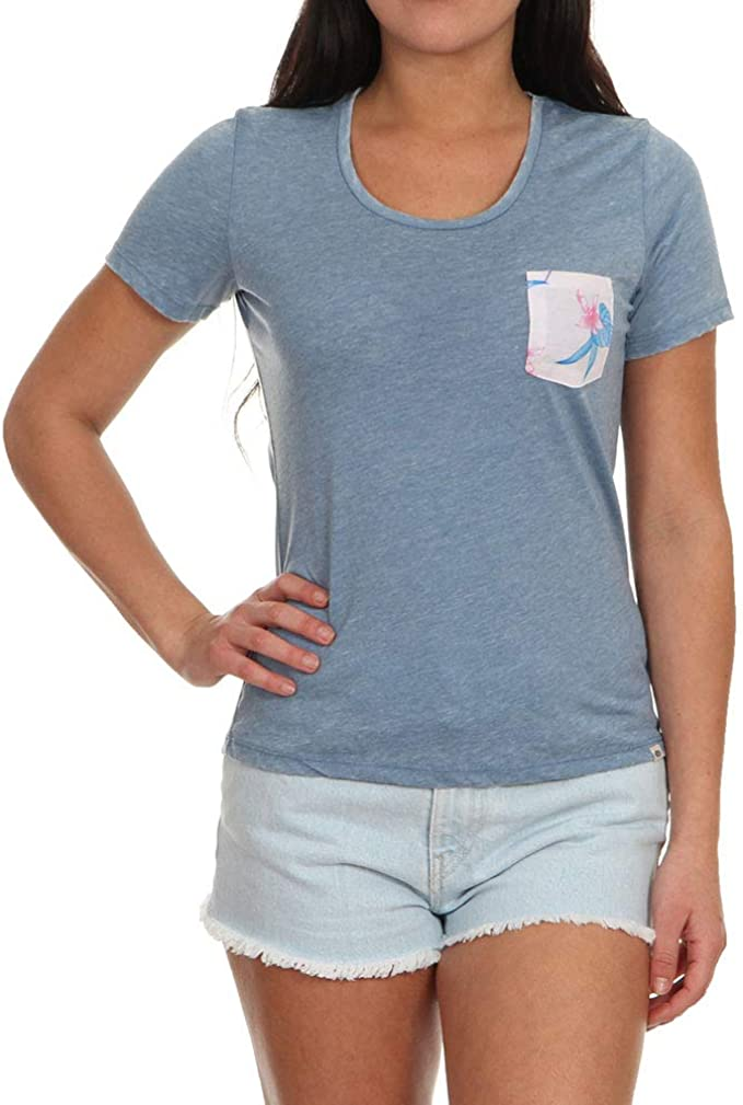 Rip Curl Beauty Pocket Womens T-shirt Blue Heaven All Sizes