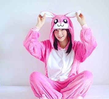 Pijama Unisex Adulto Animal Onesies Franela Rosa Conejo Siam ...