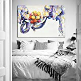 Crescent-Art-Elephant-Wall-Art-Animal-Oil-Painting-on-Canvas-Print-Wall-Decor-for-Livingroom