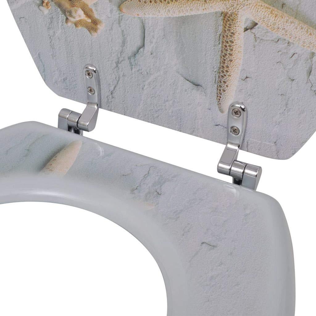 XINGLIEU Abattant de WC en Panneau MDF avec spectaculaire Couvercle avec /étoile Marina Abattant WC Ideal Standard Couvercle WC Abattant WC Universel