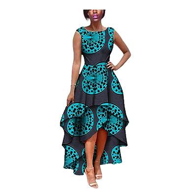 Vestido Africano para Mujer, Falda Foral, impresión Dashiki Sirena ...