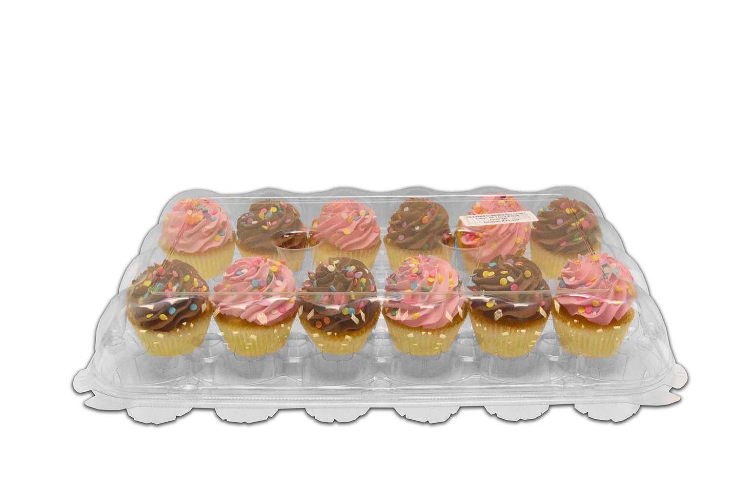 Inno-Pak KP424 24 count Cupcake Container, 13.5'' x 6.75'' x 3.7'' (Pack of 50)