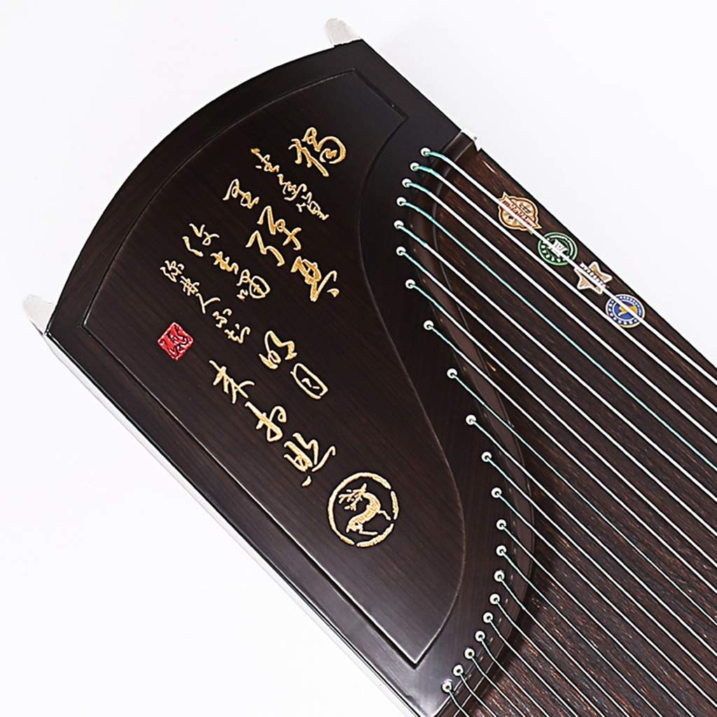 Guzhengエボニーウッドプロフェッショナルレタリング中国の伝統的なツィター国立オーケストラ楽器   B07RND9C8G