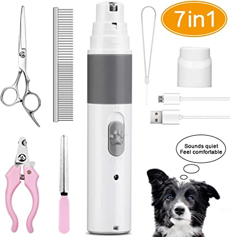 Dog Nail Grinder 2 Diamond Grinding Wheel Electric Grooming Clippers Trimmer