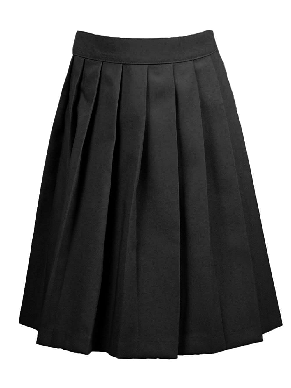 French Toast Big Girls' Pleated Skirt - black, 10