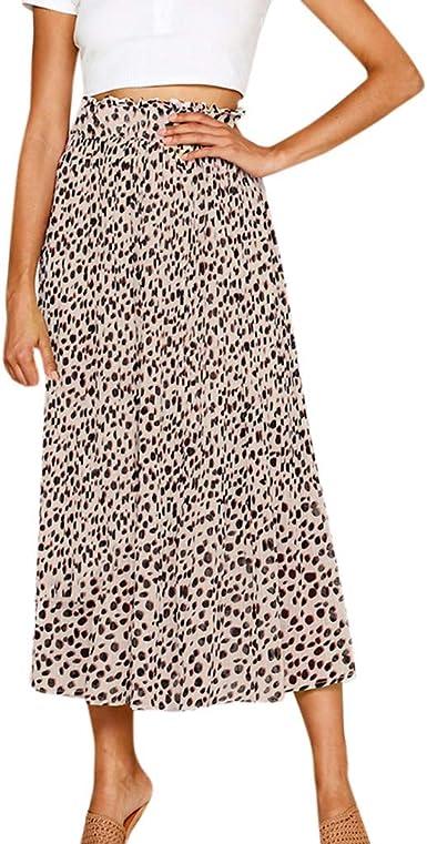 TIFIY Nuevo 2019 Ropa de Mujer Falda Larga Gasa Elegante Leopardo ...