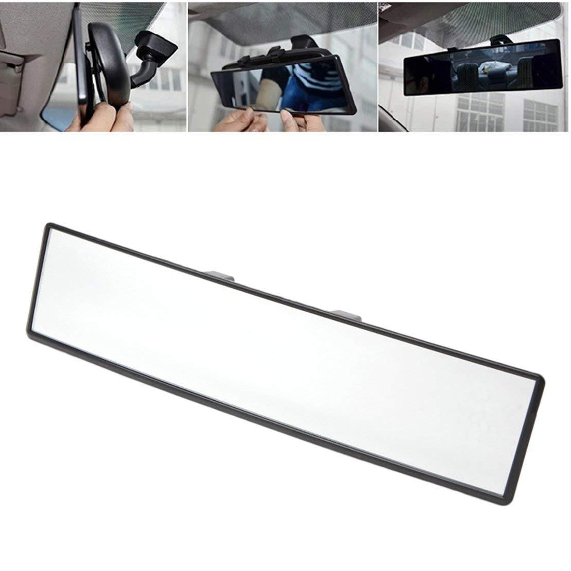 Specchietto retrovisore grandangolare universale 300mm per auto Specchietto retrovisore grandangolare per auto Grandangolo convesso interno Clip su specchietto retrovisore Bianco e nero