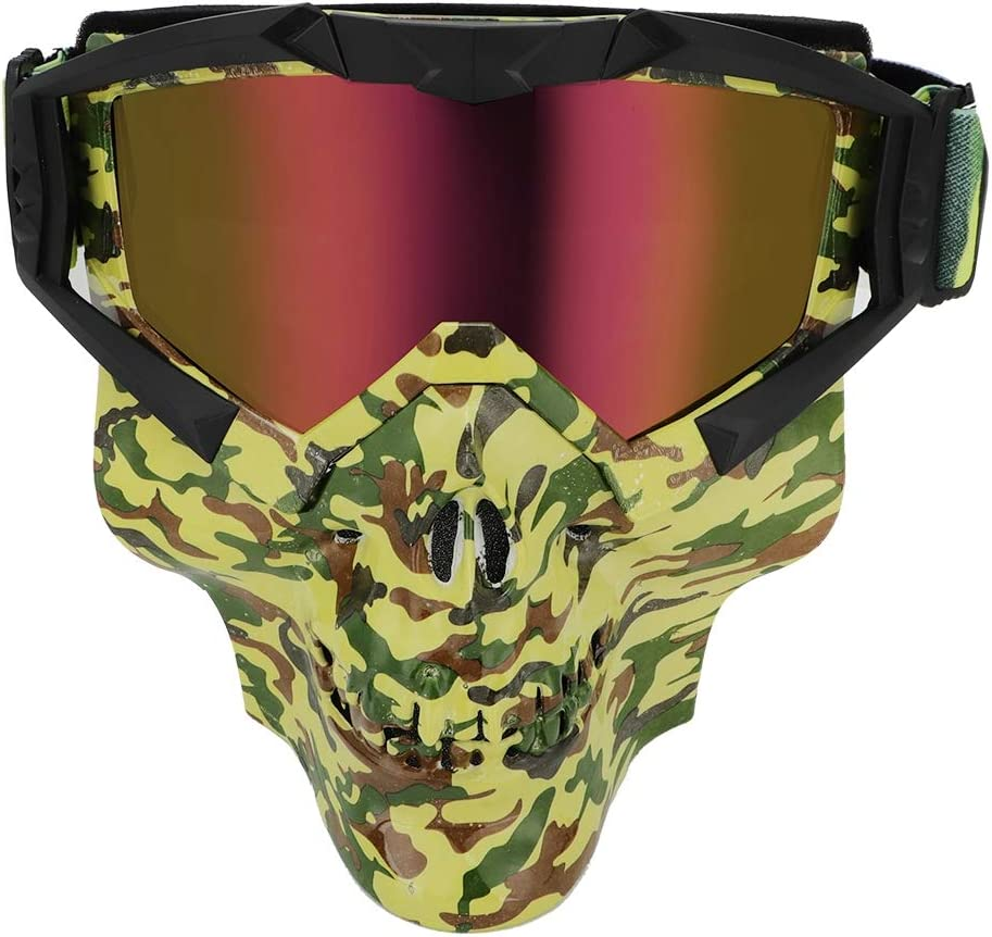 Yctze Gafas de moto, Gafas de motocross Gafas Gafas Calavera Mascarilla Antipolvo A prueba de rayos ultravioleta(J113)