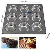 Rolex Aluminium Muffin Bakeware Tray Aluminium Muffin Bakeware Tray 9 Cavity