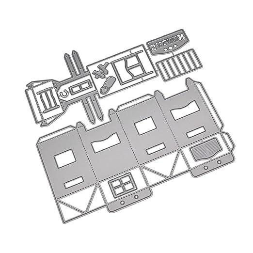 pushfocourag - Caja de Regalo 3D para la casa, Troquelado ...