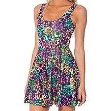 Molif Women Summer Halloween Christmas Nutcracker Gift 3D Prints Reversible Sleeveless Skater Dress