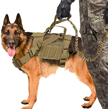 QZY Militar Táctico Arnés para Perros K9 Perro de Trabajo Chaleco ...