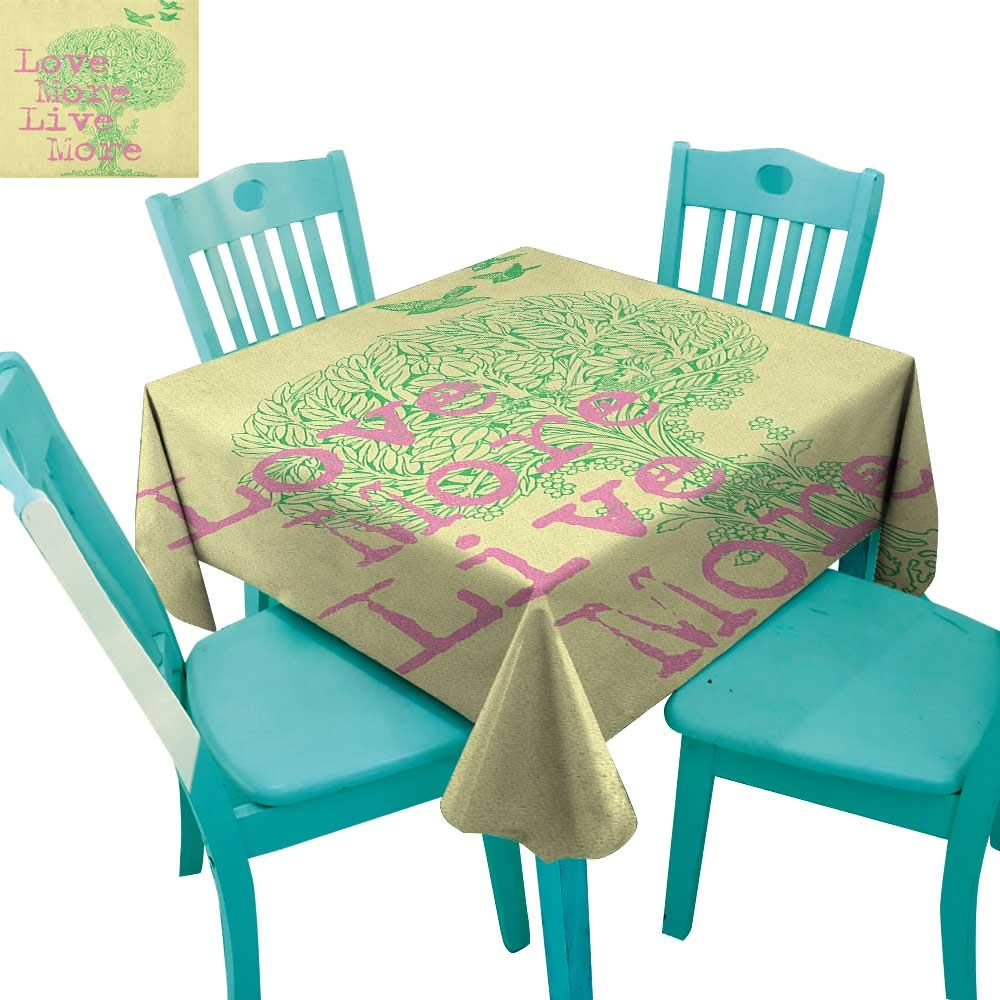 color01 36x36 (inch)longbuyer Animal,Patterned Tablecloth,Silhouette of Sea Creature with Coral Reef Patterns Inside Aquarium Icon Print,54 x54 ,Suitable for Kitchen, dustproof Desktop Decoration