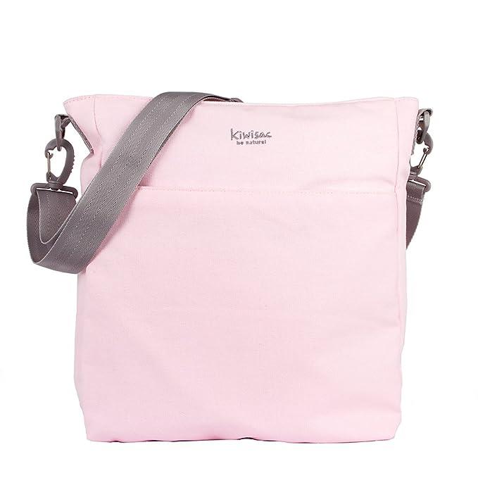 Kiwisac Be Nature Bolso Universal para Carro de Bebé con Diseño Original y Elegante en Color Rosa Bolso Organizador con Cambiador, Bandolera Ajustable ...