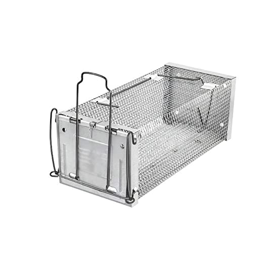 Trampa de Jaula de roedores de Metal Reutilizable automática Caja ...