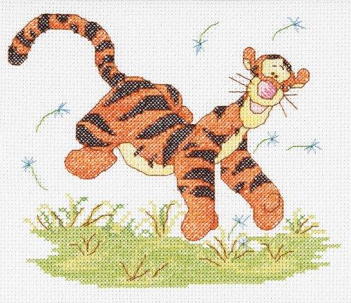 Janlynn Cross Stitch Kit, Tigger Watercolor (Stitch Tigger Cross)