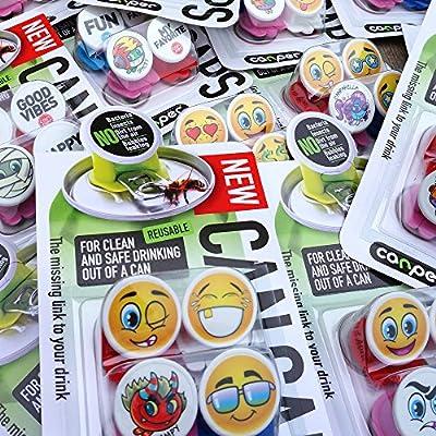 Canper 3830061550131 Can Cap Colorful Emoji Pack of 4