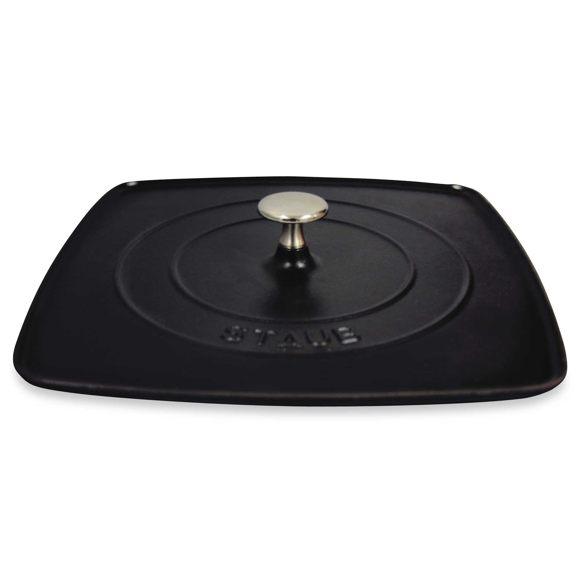 Grill Press, 12-inch Cast Iron Highly Chip-Resistant - Retains and Transfers Heat Evenly