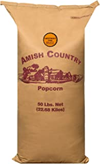 product image for Amish Country Popcorn | 50 Lb Bag Ladyfinger Kernels | Old Fashioned with Recipe Guide (50lb Bag)