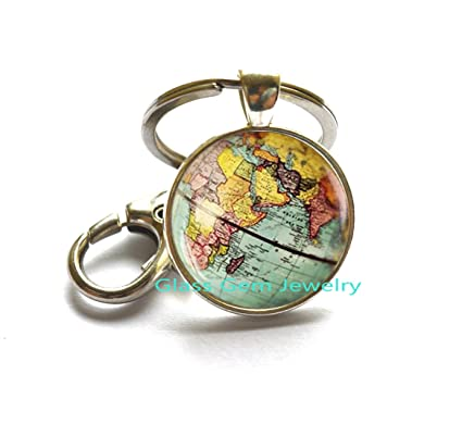 Amazon world map globe keychain earth keychain globe keychain world map globe keychain earth keychain globe keychain map jewelry vintage globe gumiabroncs Image collections
