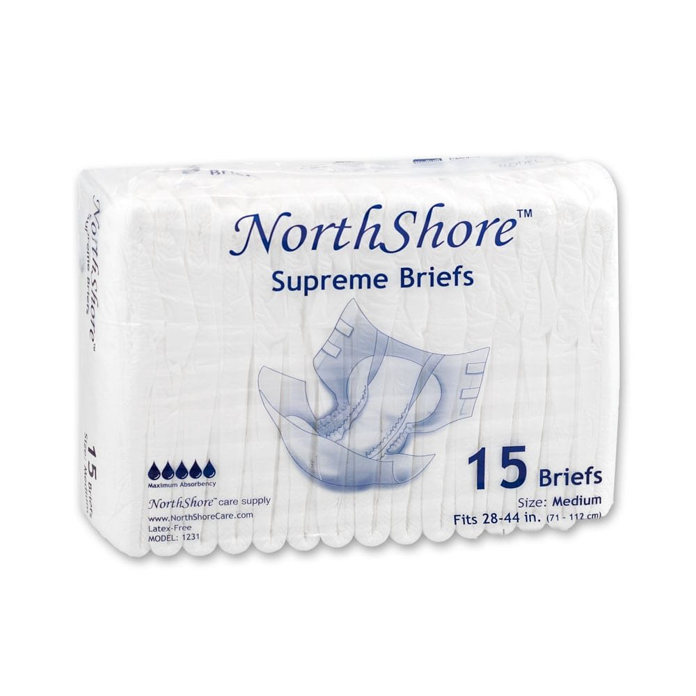 NorthShore Supreme Briefs, Medium, Pack/15