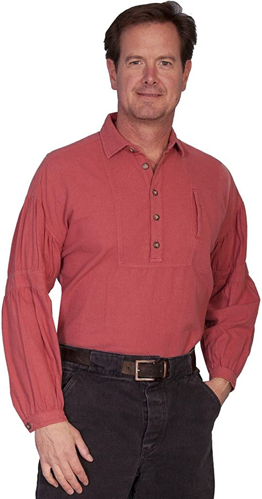 Cayenne Scully Unique Old West Style Pullover Cotton Large Mens Shirt
