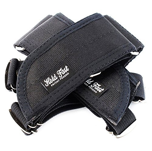 Hold Fast FRS Bicycle Pedal Foot Retention Straps, Black