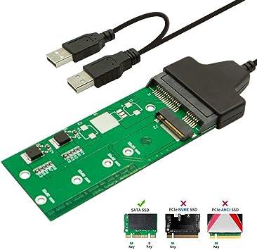 QNINE M.2 SSD Adaptador, NGFF a USB o SATA Tarjeta convertidora ...