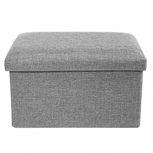 Stool Foot (Storage Ottoman Polyester Folding Stool,Foot Rest Seat,Clutter Toys Collection 16