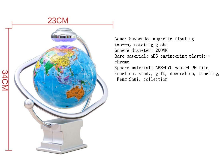 EATHGL Große Magnetschwebekugel-Kinderpädagogik senden Lichter, die die die 8-Zoll-20-cm-Zwei-Wege-Rotations-Hd-Lehre leuchten (Farbe   B) B07MDZKFNV | Discount  | Preisreduktion  | Abgabepreis  e670fd