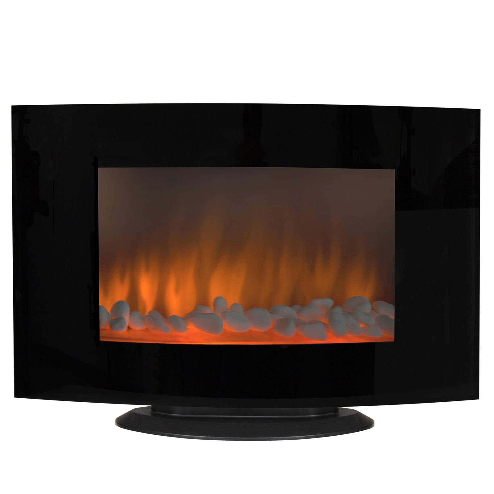 1500W Heat Adjustable Electric Wall Mount Standing Fireplace Heater w/ Glass XL + FREE E-Book