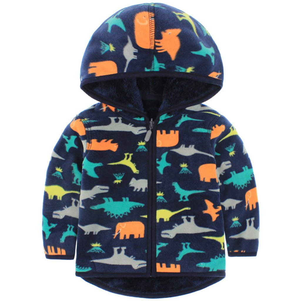 Boys Polar Fleece Jackets Hoodie Jackets Reversible Coats Spring Outerwear Vine Trading Co. Ltd C161229WT0317V