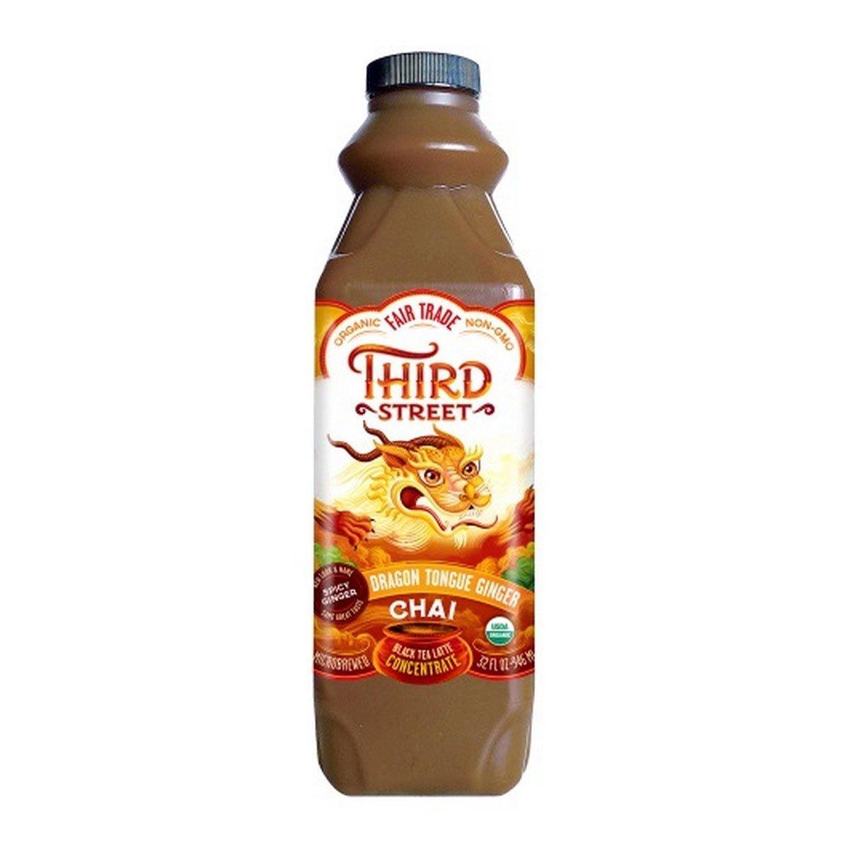 Third Street Chai, organic, Conc ,Dragon Tongue Ginger, Pack of 6, Size - 32 FZ, Quantity - 1 Case by Third Street Chai