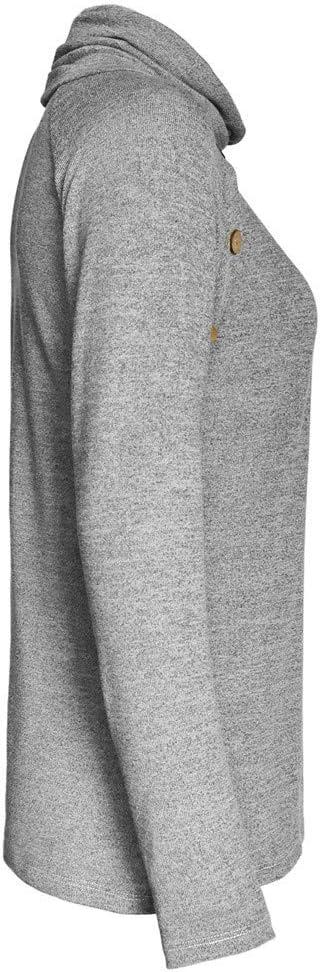 Pull Femmes Hiver Chemisier Col Roul/é L/âche Blouse Tricot/é Chaud Manche Chic Yoga Fitness Gym Pilates Sport Manche Longue Blouse Pull-Over Sweater Casual Tunique Hauts Shirt