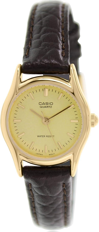 Casio Women s EAW-LTP-1094Q-9ARDF Analog Quartz Brown Watch