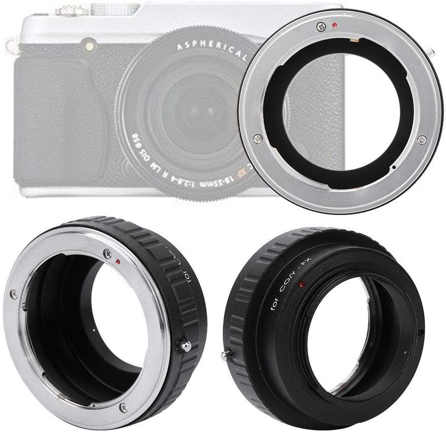 Oumij Lens Control Ring Manual Focus Aluminum Optical Glass Lens Mount Adapter Ring for CY//YC Lens to for FX Camera