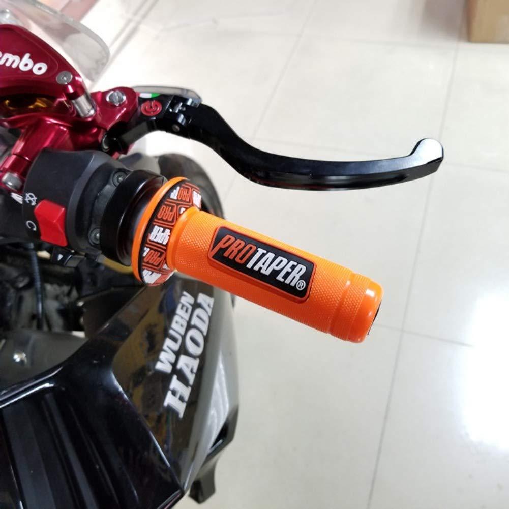 Bebliss Accesorios para Motocicletas Universal Nuevo Pegamento para Mangos Izquierdo y Derecho Pro Motos Pro Taper Dirt Pit Grips Manillar Tapa Final Tapa Deslizante Barras est/ándar