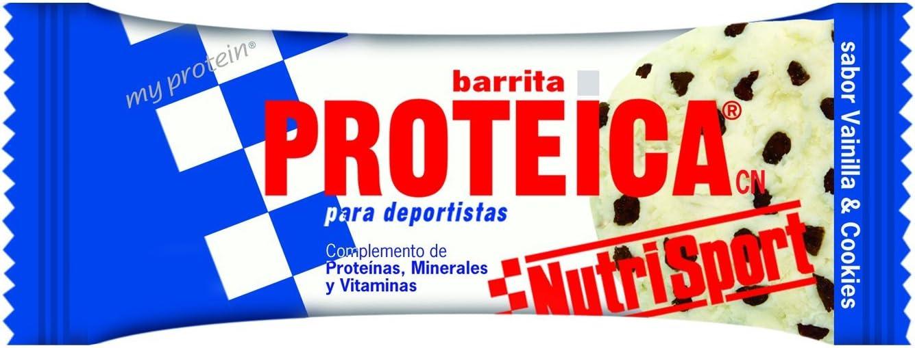 NUTRI-SPORT - BAR. PROTEICA VAINILLA COOKIES: Amazon.es ...