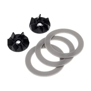 Dreld 2Pcs Rubber Blender Blade Coupling Drive Clutch with 3Pcs Sealing Gasket O-ring Gear Part Replace Part # 990035800, Replacement Part Fit for Hamilton Beach Blender