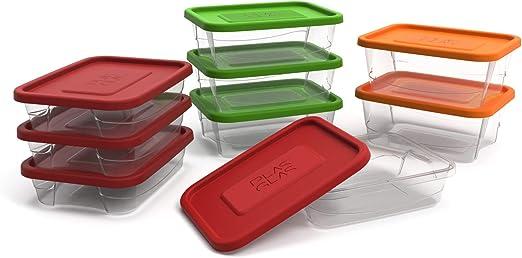 Juego de recipientes de almacenamiento de comida con tapas de ...
