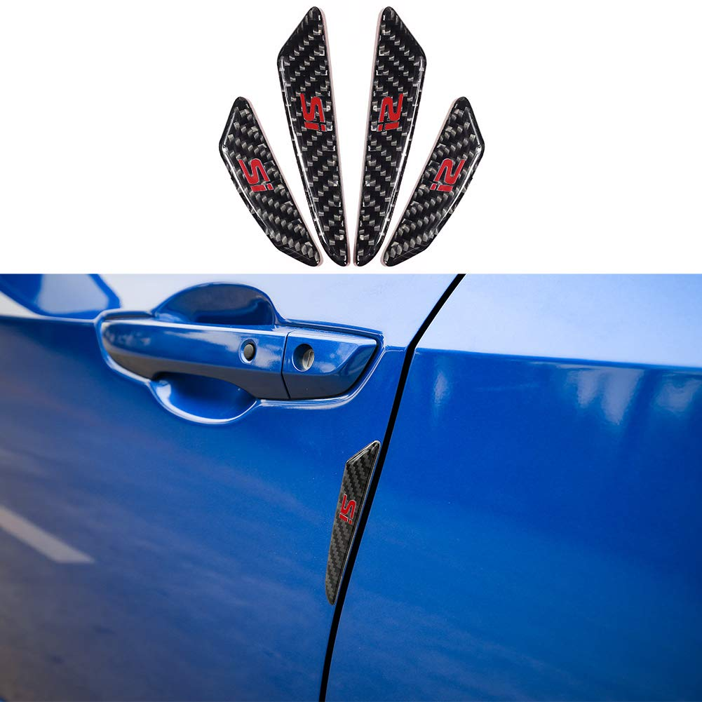 Amazon com thenice carbon fiber car door side edge bumper sticker anti scratch protector strips trims for honda civic accord crv automotive