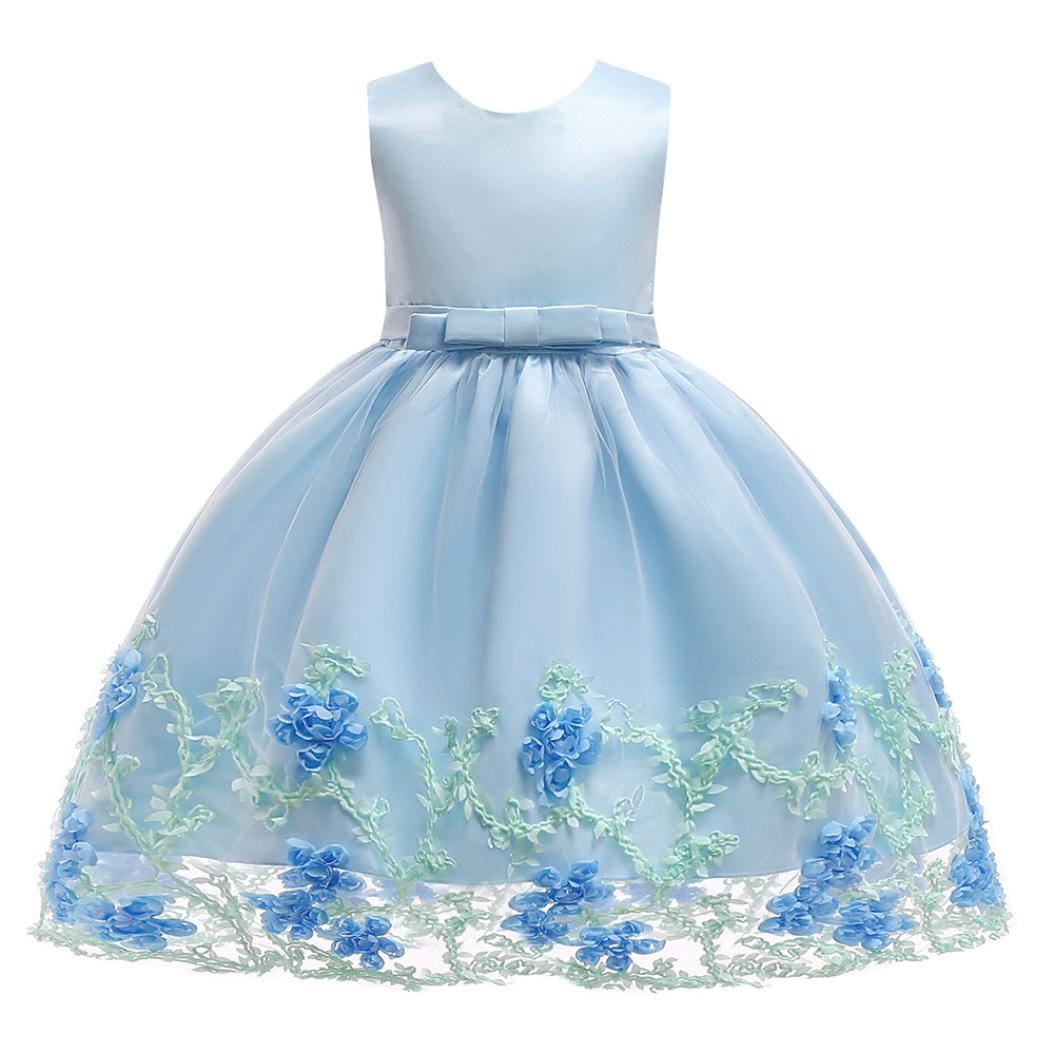 SMALLE◕‿◕ Clearance,Flower Baby Girls Princess Tutu Dress Print Sleeveless Formal Clothing Dresses