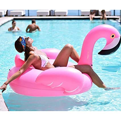 Lady of Luck Inflable Gigante De Flamencos, Flotador para Piscina Los Adultos y Los Niño Pueden Jugar En La Playa con Pileta Disfrute Agradables ...