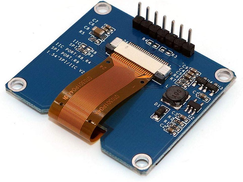White Font WINGONEER 1.54 Inch OLED Display Module 128x64 SPI IIC Interface OLED Screen Board 3.3-5V UART