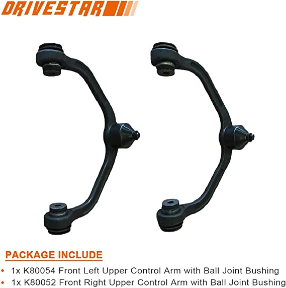 1 Pc Design w//Front Coil Suspension Only AUQDD 2Pcs K80052 K80054 Front Upper Control Arm And Ball Joint Left Right Compatible With Ford Ranger Mazda B2300 B2500 B3000 B4000 Driver Passenger Side