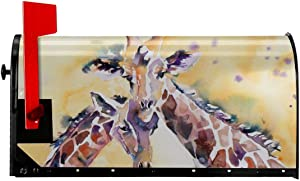 YangPa Watercolour Giraffes Summer Magnetic Mailbox Cover Garden Patio Home Decoration for Exterior One Size 21x18 Inch
